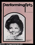 Autographs, Katherine Hepburn Signed Theater Program