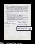 Autographs, Carolyn Jones Signed Contract