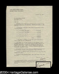 Autographs, Gene Kelly Signed Letter