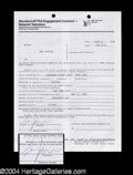Autographs, Sam Kinison Signed Saturday Night Live Document