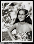 Autographs, Dorothy Lamour Signed Photo (G)