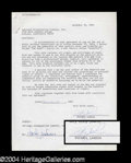 Autographs, Michael Landon Signed Document