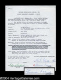 Autographs, Fredric March Signed Document