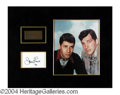 Autographs, Dean Martin and Jerry Lewis Signed Matted Display