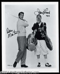 Autographs, Dean Martin & Jerry Lewis Dual Signed Photo