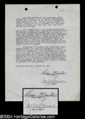 Autographs, Dean Martin & Jerry Lewis Early Signed Document