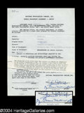 Autographs, Gummo Marx Scarce Signed Document