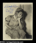 Autographs, Butterfly McQueen Signed Gone With the Wind Photo