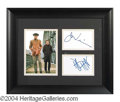 Autographs, Midnight Cowboy Voight and Hoffman Framed Signed Display