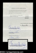 Autographs, Elizabeth Montgomery & William Asher Signed Document