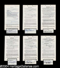 Autographs, Mothers-In-Law (Eve Arden) Signed Document Set