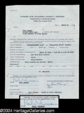 Autographs, Paul Newman Signed Document