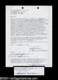 Autographs, Sean Penn Signed Document