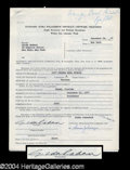 Autographs, Gilda Radner Signed Television Document