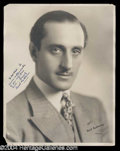 Autographs, Basil Rathbone Fabulous Signed 11 x 14 Photograph