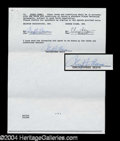 Autographs, Christopher Reeve Rare Signed Document
