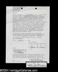 Autographs, Paul Reubens (Pee Wee Herman) Signed Document