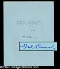 Autographs, Hal Roach Typed Signed Quotation