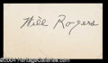 Autographs, Will Rogers Vintage Signature