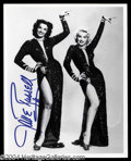 Autographs, Jane Russell Signed 8 x 10 Photo w/ Marilyn Monroe