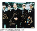 Autographs, The Sopranos Cast Signed Graveyard Photo