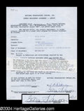 Autographs, Glroria Swanson Signed Document