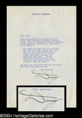 Autographs, Danny Thomas Signed Letter to Jack Haley