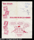 Autographs, Three Stooges Flyer Signed By All Three!