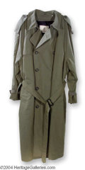 Autographs, Denzel Washington Courage Under Fire Screen Worn Trench Coat