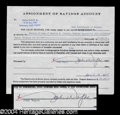 Autographs, John Wayne Rare Signed Document