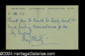 Autographs, May Whitty Handwritten Signed Postcard