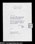 Autographs, Robert Wise Signed Letter to Joan Crawford