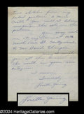 Autographs, Loretta Young Signed Letter Good Content