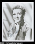 Autographs, Eve Arden Signed 8 x 10 Photo