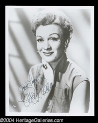 Eve Arden Signed 8 x 10 Photo - Presented here for your viewing pleasure is a choice assortment of signed 8 x 10 photogr...