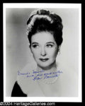 Autographs, Joan Bennett Signed 8 x 10 Photo