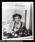 "Autographs, Shirley Booth Signed 8 x 10 Photo as ""Hazel"""