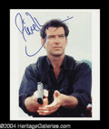 Autographs, Pierce Brosnan Signed Bond Photo
