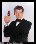 Autographs, Pierce Brosnan Signed Photo as 007