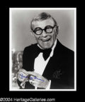 Autographs, George Burns Signed Photo