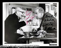 Autographs, George Burns & Walter Matthau Signed 8 x 10 Photo