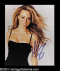 Autographs, Mariah Carey Signed 8 x 10 Photo