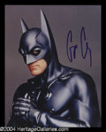 Autographs, George Clooney Signed 8 x 10 Photo