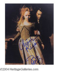 Autographs, Johnny Depp & Christina Ricci