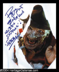 Autographs, Robert Englund Signed Photo as Freddy Kruger!