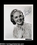 Autographs, Alice Faye Signed 8 x 10 Photo