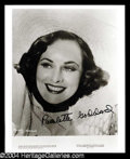 Autographs, Paulette Goddard Signed 8 x 10 Photo