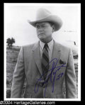Autographs, Larry Hagman In-Person Signed 8 x 10 Photo