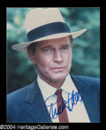 Autographs, Charlton Heston In-Person Signed Photo