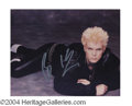 Autographs, Billy Idol Signed 8 x 10 Photo